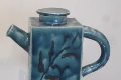 Teal Tea pot