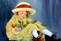 Girl with rose small