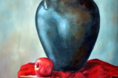 Jug and apple