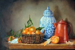 Tangerines and copper teapot